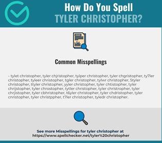 Correct spelling for Tyler Christopher