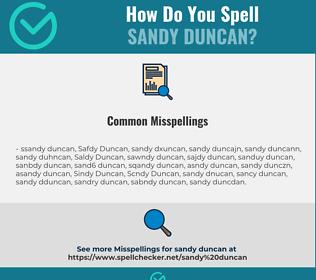 Correct spelling for Sandy Duncan
