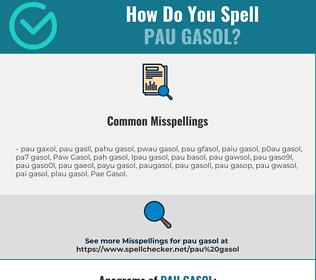 Correct spelling for Pau Gasol