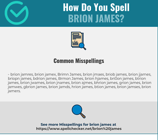 Correct spelling for Brion James