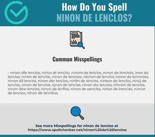 Correct spelling for Ninon de Lenclos