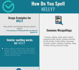 Correct spelling for Nelly