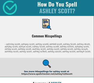 Correct spelling for Ashley Scott