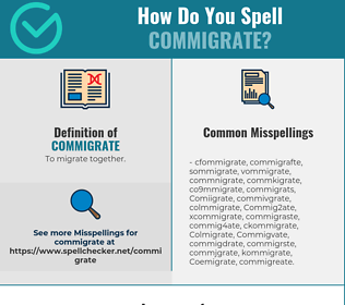 Correct spelling for Commigrate