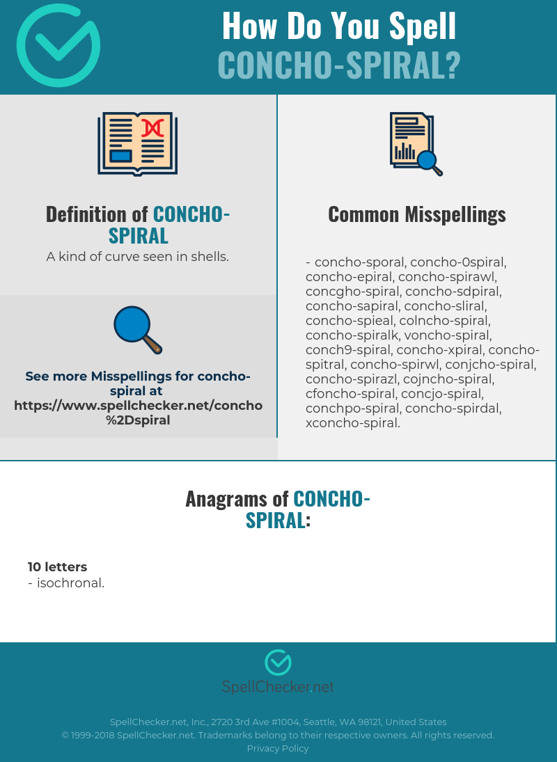 Correct Spelling For Concho Spiral Infographic