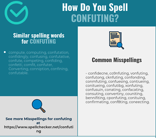 Correct spelling for Confuting