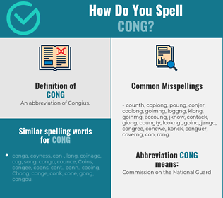 Correct spelling for Cong
