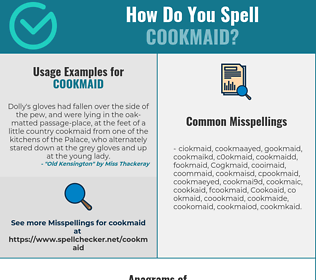 Correct spelling for Cookmaid
