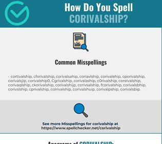 Correct spelling for Corivalship