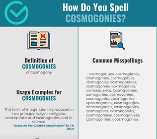 Correct spelling for Cosmogonies