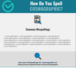 Correct spelling for Cosmographic