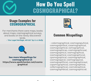Correct spelling for Cosmographical