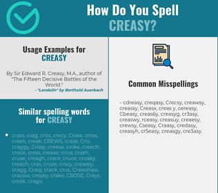 Correct spelling for Creasy