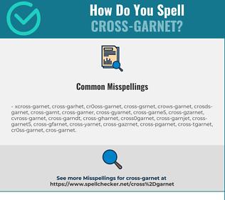 Correct spelling for Cross-garnet