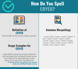 Correct spelling for Cryer