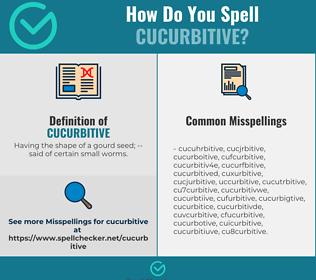 Correct spelling for Cucurbitive