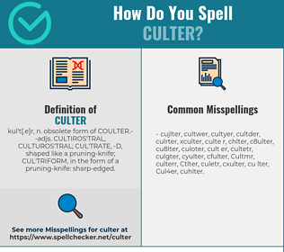 Correct spelling for Culter