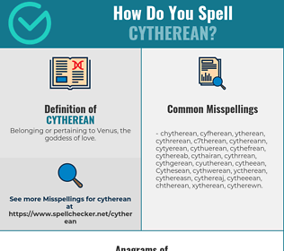 Correct spelling for Cytherean