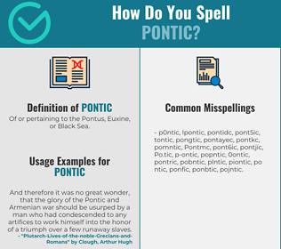 Correct spelling for Pontic