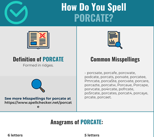 Correct spelling for Porcate