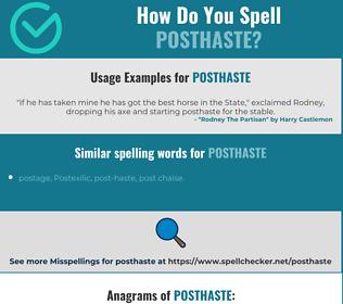 Correct spelling for Posthaste