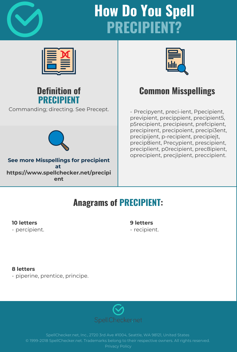 Correct spelling for Precipient [Infographic] | Spellchecker net