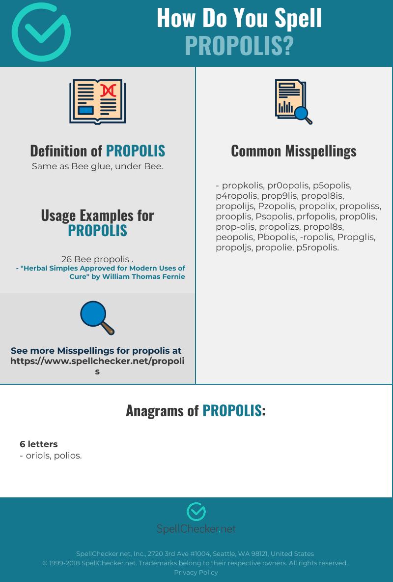 Correct spelling for Propolis [Infographic] | Spellchecker net