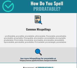 Correct spelling for Proratable