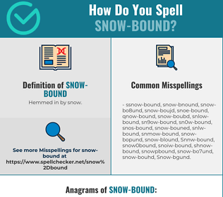 Correct spelling for Snow-bound