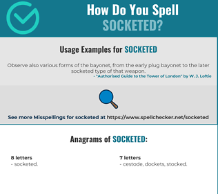 Correct spelling for Socketed