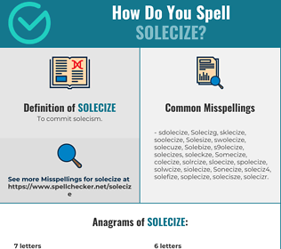 Correct spelling for Solecize