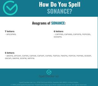Correct spelling for Sonance