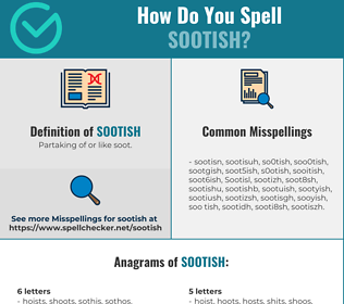 Correct spelling for Sootish