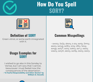 Correct spelling for Sory