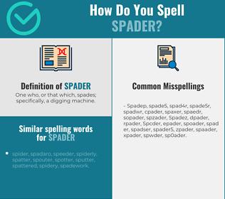 Correct spelling for Spader