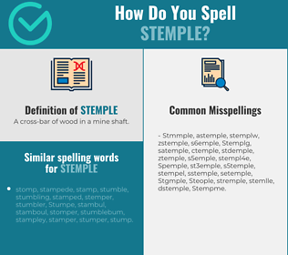 Correct spelling for Stemple