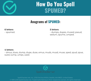 Correct spelling for Spumed