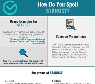 Correct spelling for Starost