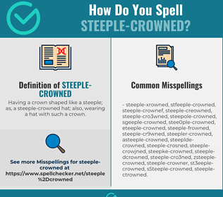 Correct spelling for Steeple-crowned