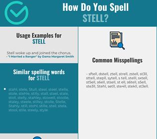 Correct spelling for Stell