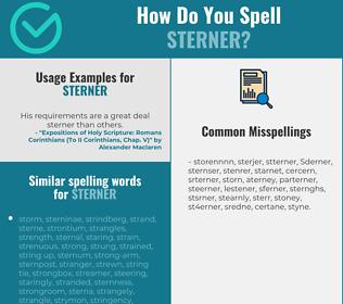 Correct spelling for Sterner