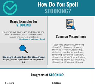 Correct spelling for Stooking