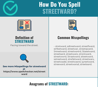 Correct spelling for Streetward