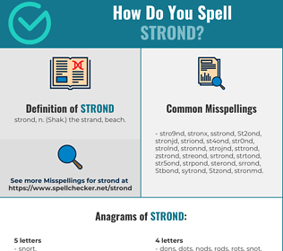 Correct spelling for Strond