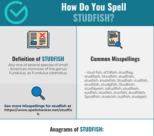 Correct spelling for Studfish