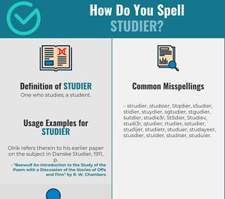 Correct spelling for Studier