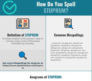 Correct spelling for Stuprum