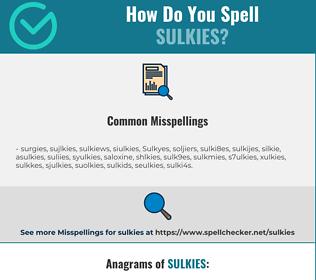 Correct spelling for Sulkies