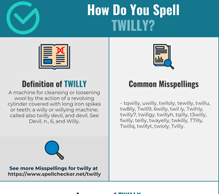 Correct spelling for Twilly