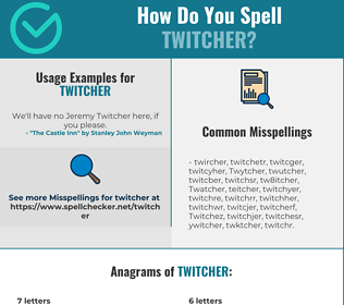 Correct spelling for Twitcher